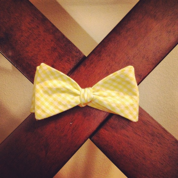 yellow gingham bow